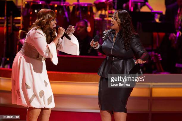 Karen Clark Sheard and Kierra Kiki Sheard performed at the BET Network's 13th Annual Celebration of Gospel at Orpheum Theatre on March 16 2013 in Los...