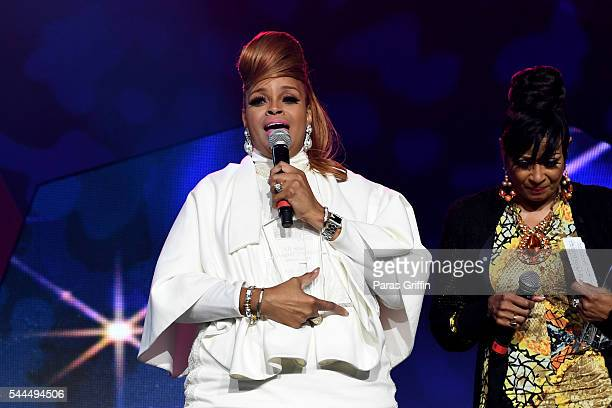 Karen Clark Sheard from The Clark Sisters speaks onstage during the Tribute Finale at the 2016 ESSENCE Festival Presented By CocaCola at Ernest N...