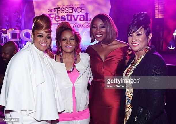 Karen Clark Sheard Jacky Cullum Chisholm Yolanda Adams and Dorinda ClarkCole attend the Tribute Finale at the 2016 ESSENCE Festival Presented By...