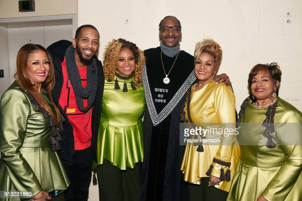 Karen Clark Sheard Lonny Bereal Dorinda ClarkCole Snoop Dogg Jacky ClarkChisholm and Elbernita ClarkTerrell at BET Presents 19th Annual Super Bowl...