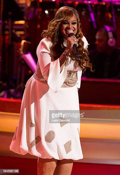 Karen Clark Sheard performed at the BET Network's 13th Annual Celebration of Gospel at Orpheum Theatre on March 16 2013 in Los Angeles California