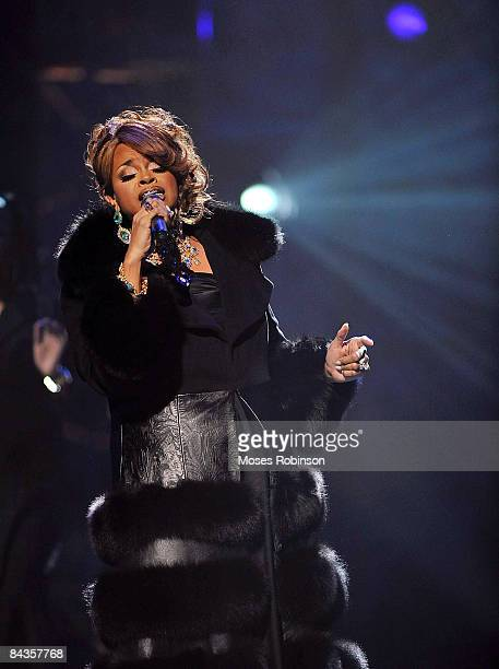 Karen Clark Sheard performs at the 24th annual Stellar Gospel Music awards at the Grand Ole Opry House on January 17 2009 in Nashville Tennessee