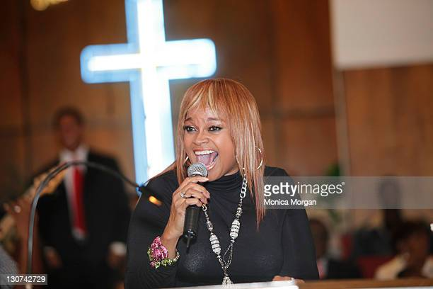 Karen Clark Sheard performs at the New Bethel Baptist Church on October 28 2011 in Detroit Michigan
