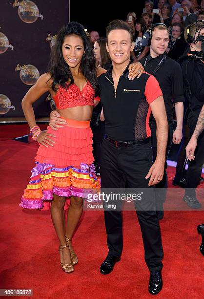 Karen Clifton and Kevin Clifton attend the red carpet launch of 'Strictly Come Dancing 2015' at Elstree Studios on September 1 2015 in Borehamwood...