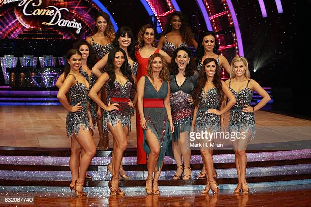 Karen Clifton Oti Mabuse Louise Redknapp Katya Jones Daisy Lowe Lesley Joseph and Anita Rani attend the photocall for the 'Strictly Come Dancing'...