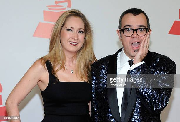 Karen Coronado and musician Aleks Syntek arrive at the 2011 Latin Recording Academy's Person of the Year honoring Shakira at Mandalay Bay Resort...