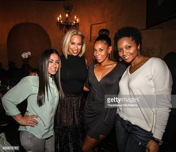 Karen Costner Amber Sabathia Ashley Witherspoon and Monique Pridgeon attend the birthday dinner for JR Smith at S Prime on September 9 2014 in...