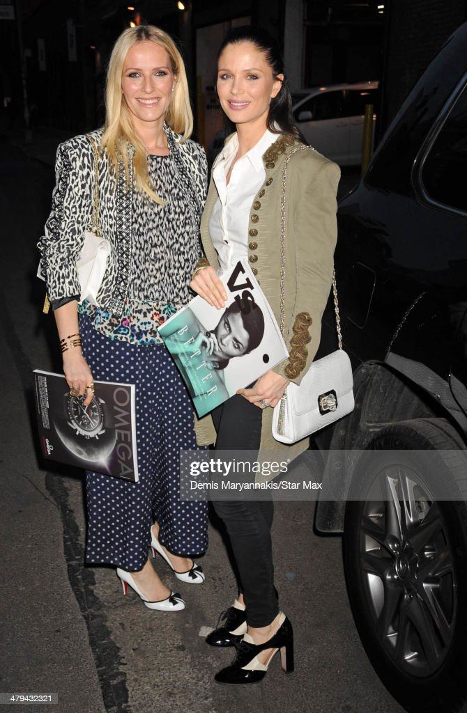 Karen Craig and Georgina Chapman are seen on March 11, 2014 in New York City.