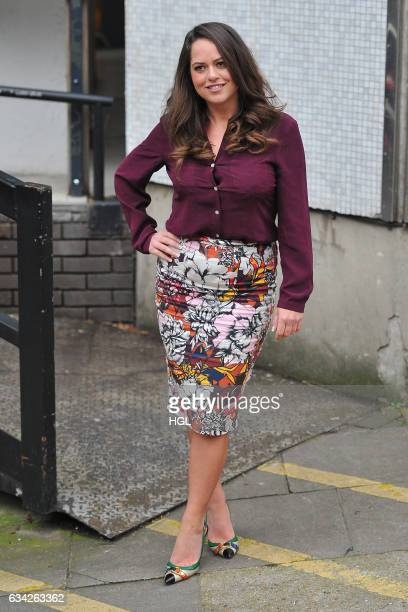 Karen Danczuk seen at the ITV Studios after an appearance on the Loose Women show sighting on February 8 2017 in London England