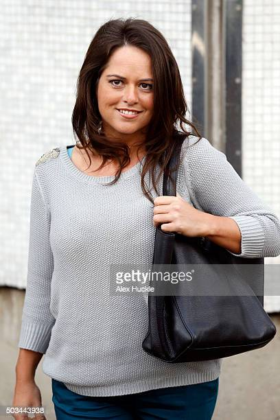Karen Danczuk seen leaving the ITV Studios after an appearance on 'Loose Women' on January 5 2016 in London England