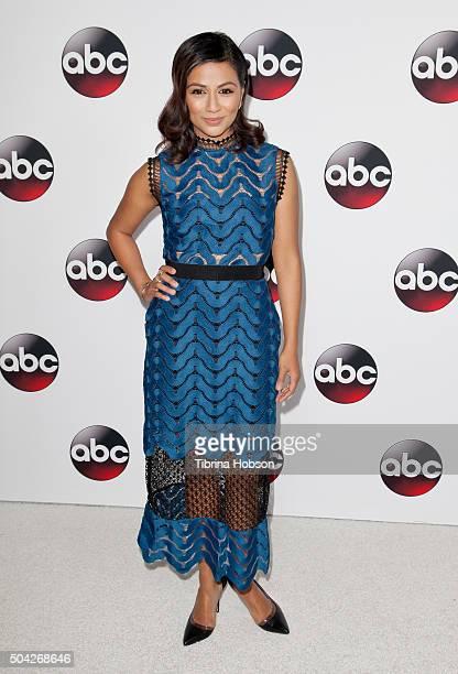 Karen David attends the Disney/ABC 2016 Winter TCA Tour at Langham Hotel on January 9, 2016 in Pasadena, California.