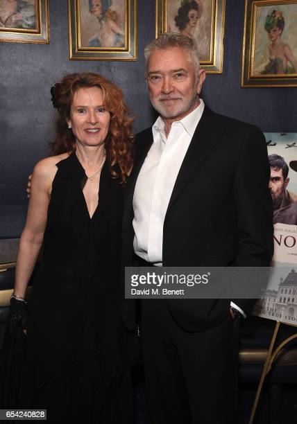 Karen De Silva and Martin Shaw attend an after party following the World Premiere of Another Mother's Son at Cafe de Paris on March 16 2017 in London...