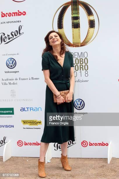 Karen Di Porto attends Globi D'Oro awards ceremony at the Academie de France Villa Medici on June 13 2018 in Rome Italy