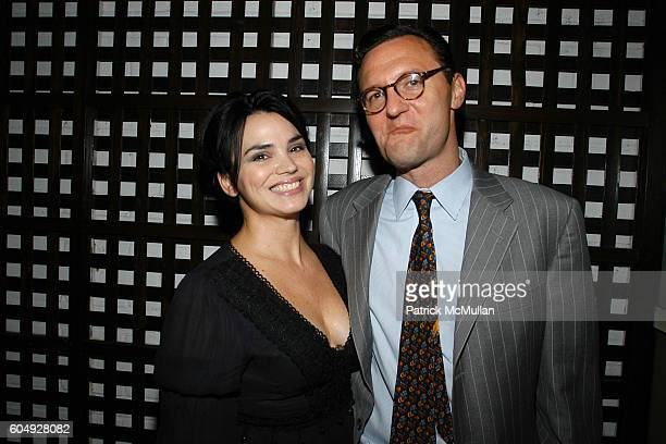 Karen Duffy and John Lambros attend A Cocktail Party Celebrating the Engagement of Jay McInerney and Anne Hearst at Tatiana and Campion Platt's...