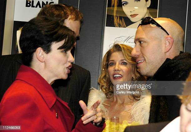 Karen Duffy, Candace Bushnell and Robert Verdi during Candace Bushnell Begins Montblanc's Great American Love Story with the World's Most Expensive...