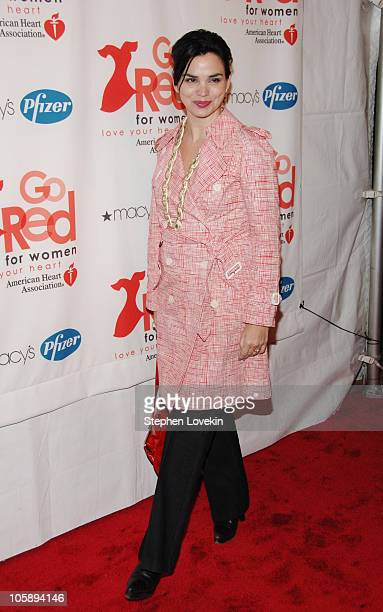 """Karen Duffy during """"Go Red for Women"""" Event - Arrivals at New York Public Library in New York City, New York, United States."""