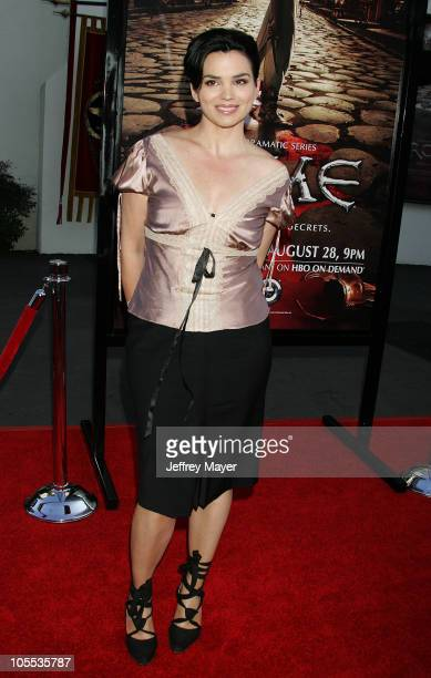 """Karen Duffy during HBO's """"Rome"""" Los Angeles Premiere - Arrivals at Wadsworth Theater in Westwood, California, United States."""