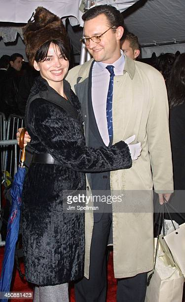 Karen Duffy her husband John Lambros during The Shipping News New York Premiere at The Ziegfeld Theatre in New York City New York United States
