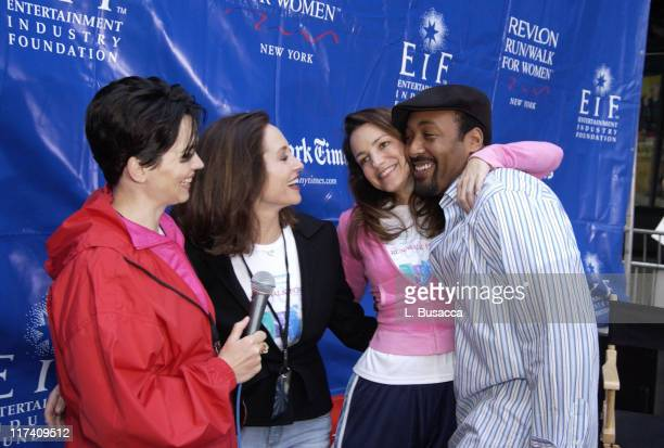 Karen Duffy Lilly Tartikoff cofounder of the Revlon Run/Walk and the Revlon/UCLA Women's Cancer Research Program Kristin Davis and Jesse L Martin