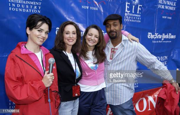 Karen Duffy, Lilly Tartikoff, co-founder of the Revlon Run/Walk and the Revlon/UCLA Women's Cancer Research Program , Kristin Davis and Jesse L....