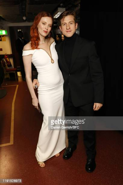 Karen Elson and Daniel Lee backstage stage during The Fashion Awards 2019 held at Royal Albert Hall on December 02, 2019 in London, England.