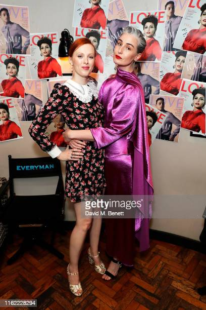 Karen Elson and Erin O'Connor attend the #MOVINGLOVE screening hosted by Derek Blasberg Katie Grand at Screen on the Green on July 15 2019 in London...
