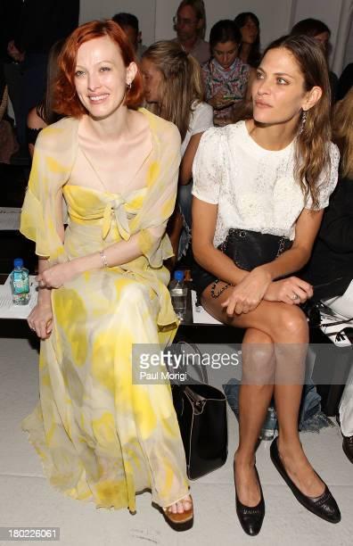 Karen Elson and Frankie Rayder attend the Rodarte show during Spring 2014 MercedesBenz Fashion Week at Center 548 on September 10 2013 in New York...