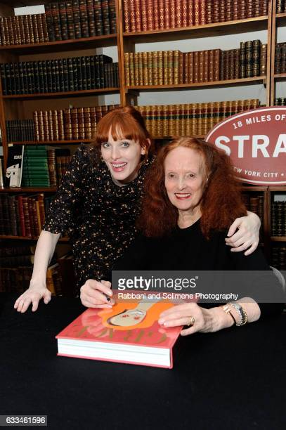Karen Elson and Grace Coddington attend Grace Coddington Signs Copies Of 'Grace Coddington The American Vogue Years' at Strand Bookstore on February...