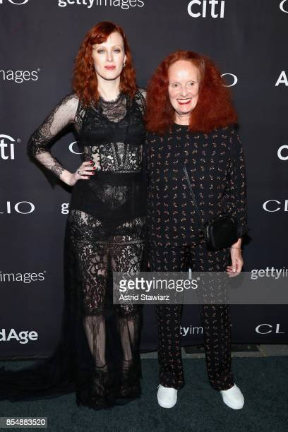 Karen Elson and Grace Coddington attend the 2017 Clio Awards at Lincoln Center on September 27 2017 in New York City