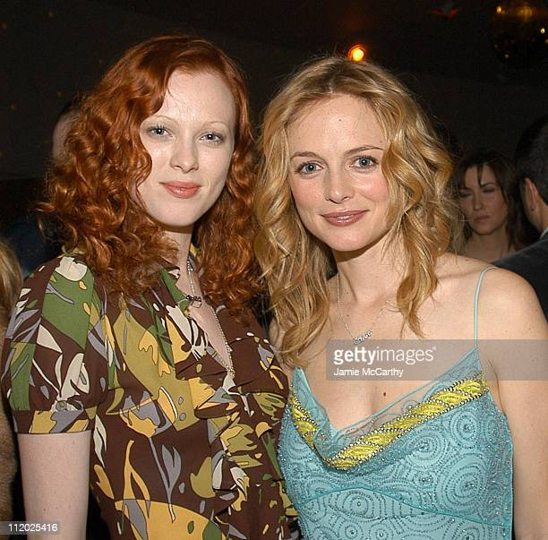 Karen Elson and Heather Graham during Dior Sponsors Artist's Ball Honoring Matthew Ritchie Red Carpet and Inside at Guggenheim Museum in New York...