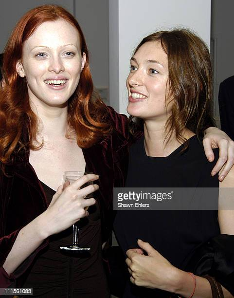 Karen Elson and Kate Elson during Olympus Fashion Week Spring 2005 Ann Taylor Celebrates 50th Anniversary With Vogue at Chelsea Art Museum in New...
