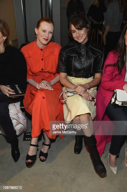 Karen Elson and Shailene Woodley attend the Proenza Schouler front row during New York Fashion Week The Shows on February 11 2019 in New York City