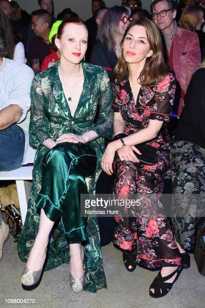 Karen Elson and Sofia Coppola attend the Anna Sui front row during New York Fashion Week: The Shows at Gallery I at Spring Studios on February 11,...