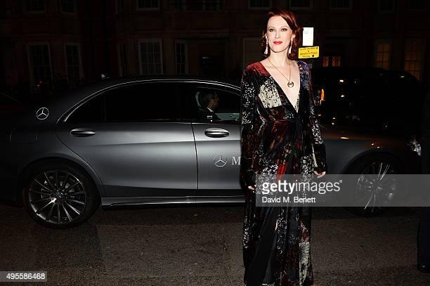 Karen Elson arrives at Harper's Bazaar Women Of The Year Awards at Claridge's Hotel on November 3 2015 in London England