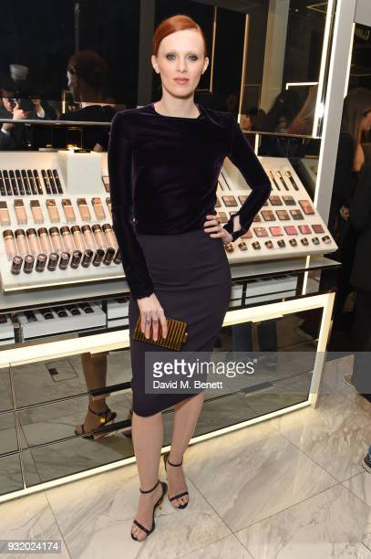 Karen Elson attends a party hosted by Tom Ford Beauty and Dazed to celebrate the launch of Tom Ford Extreme at Tom Ford Store Covent Garden on March...