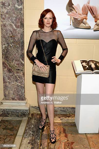 Karen Elson attends Roger Vivier Rizzoli New York book launch on April 11 2013 in New York City