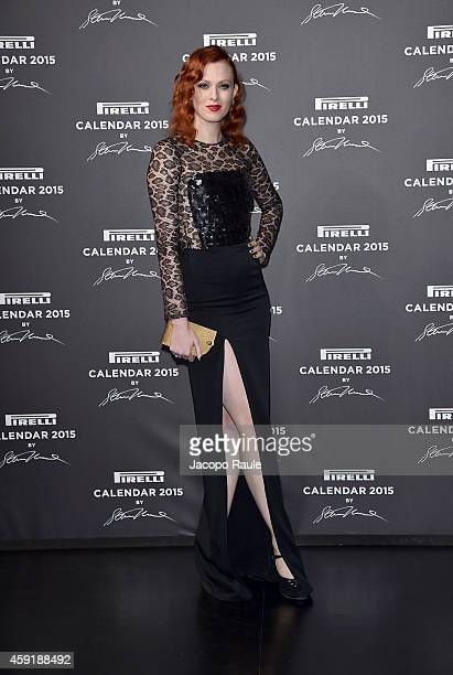 Karen Elson attends the 2015 Pirelli Calendar Red Carpet on November 18 2014 in Milan Italy