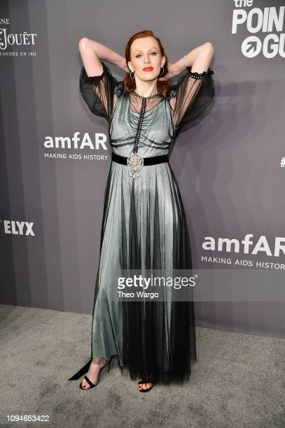 Karen Elson attends the amfAR New York Gala 2019 at Cipriani Wall Street on February 6 2019 in New York City