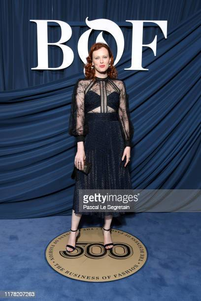 Karen Elson attends the #BoF500 gala during Paris Fashion Week Spring/Summer 2020 at Hotel de Ville on September 30 2019 in Paris France
