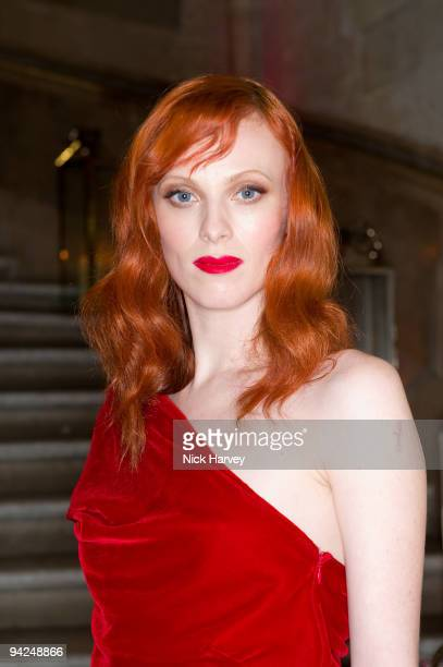 Karen Elson attends the British Fashion Awards at Royal Courts of Justice Strand on December 9 2009 in London England