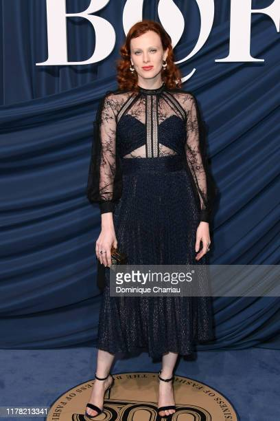 Karen Elson attends The Business Of Fashion Celebrates The #BoF500 2019 at Hotel de Ville on September 30, 2019 in Paris, France.