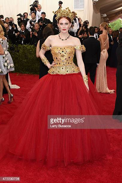 Karen Elson attends the China Through The Looking Glass Costume Institute Benefit Gala at the Metropolitan Museum of Art on May 4 2015 in New York...