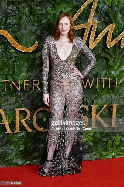 Karen Elson attends the Fashion Awards 2018 in partnership with Swarovski at Royal Albert Hall on December 10 2018 in London England