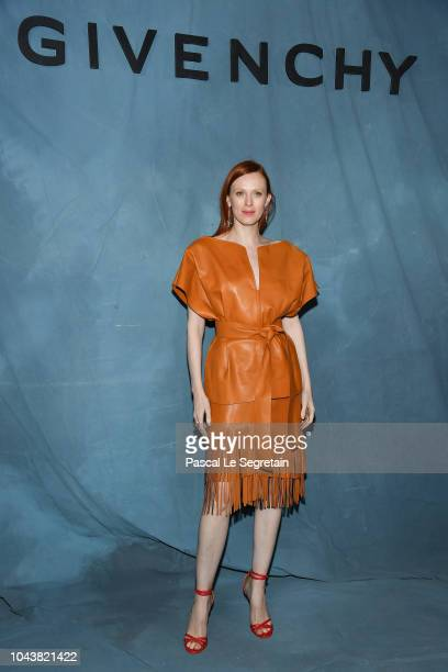 Karen Elson attends the Givenchy show as part of the Paris Fashion Week Womenswear Spring/Summer 2019 on September 30 2018 in Paris France