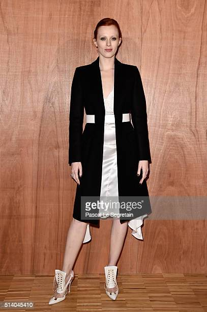 Karen Elson attends the Givenchy show as part of the Paris Fashion Week Womenswear Fall/Winter 2016/2017 on March 6 2016 in Paris France