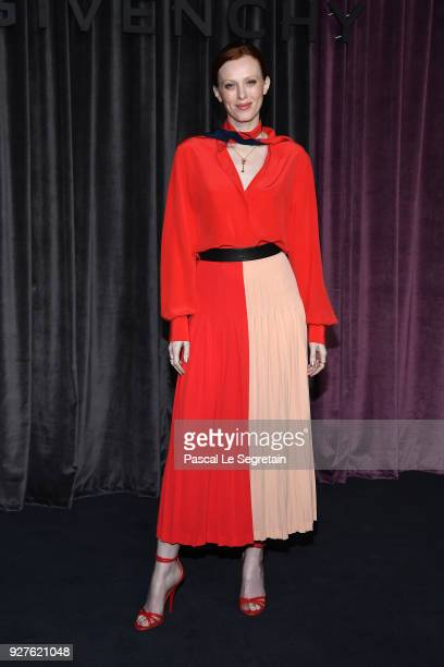 Karen Elson attends the Givenchy show as part of the Paris Fashion Week Womenswear Fall/Winter 2018/2019 on March 4 2018 in Paris France