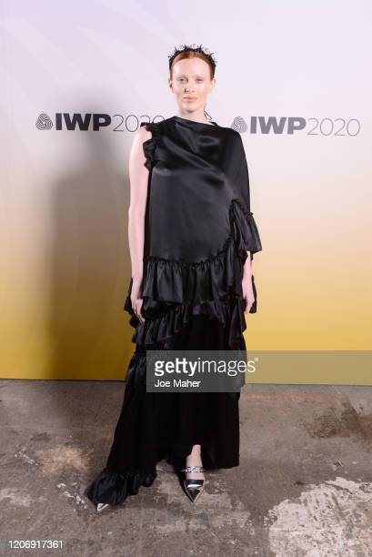 Karen Elson attends the International Woolmark Prize 2020 during London Fashion Week February 2020 at Ambika P3 on February 17 2020 in London England