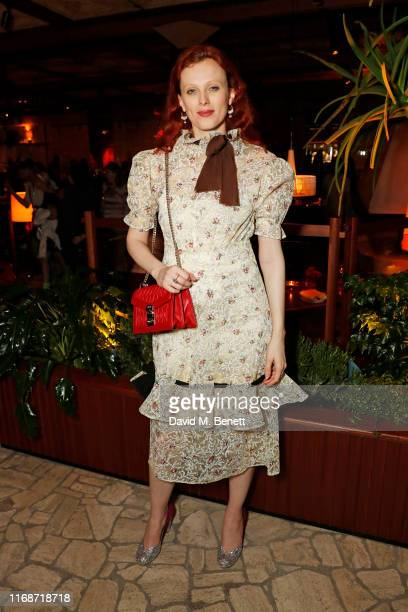 Karen Elson attends the LOVE YouTube LFW party supported by PerrietJouet and hosted by Katie Grand Derek Blasberg at Decimo at The Standard London on...
