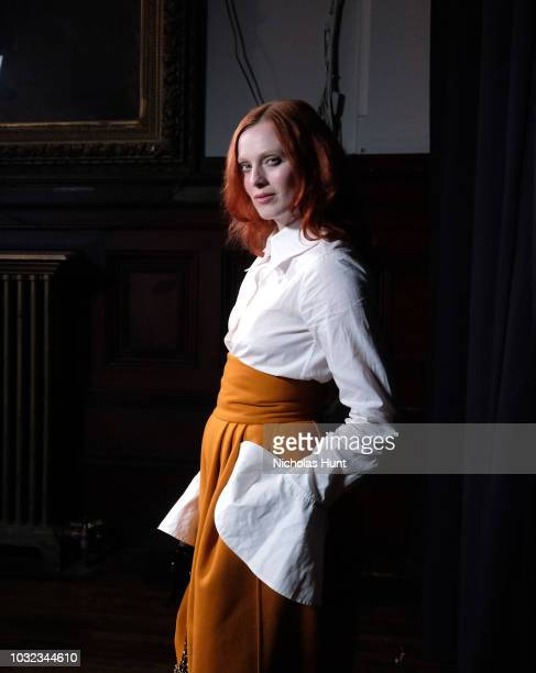 Karen Elson attends the Marc Jacobs Spring 2019 Runway during New York Fashion Week The Shows at Park Avenue Armory on September 12 2018 in New York...