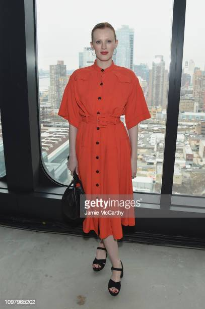 Karen Elson attends the Proenza Schouler front row during New York Fashion Week The Shows on February 11 2019 in New York City